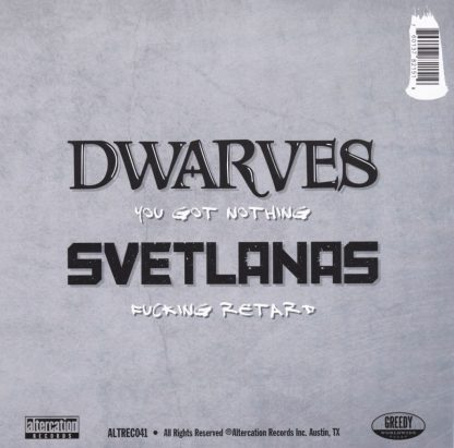 "The Dwarves / Svetlanas 7"" - BACK"